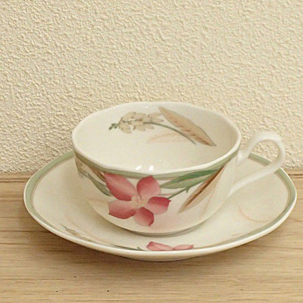ティーカップソーサー ニューボン マドレーヌ 洋食器 業務用食器 商品番号:3d65043-406
