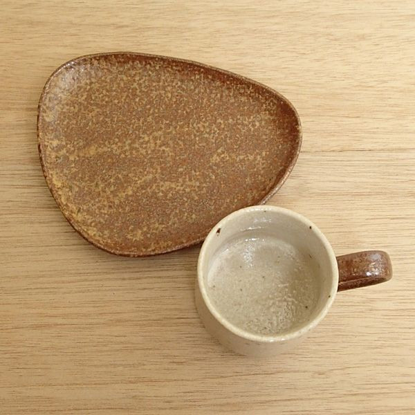 コーヒーカップソーサー ナチュラル 陶器 和食器 業務用食器 商品番号:3d65557-556
