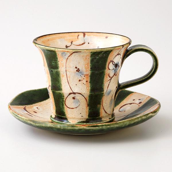 コーヒーカップソーサー まほろば 織部 陶器 和食器 業務用食器 商品番号:6a27-51