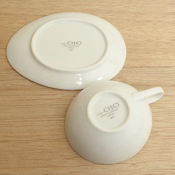 ティーカップソーサー 白 Crecent?Vクレセント洋食器 業務用食器 STUDIO010 商品番号:scc-308-309
