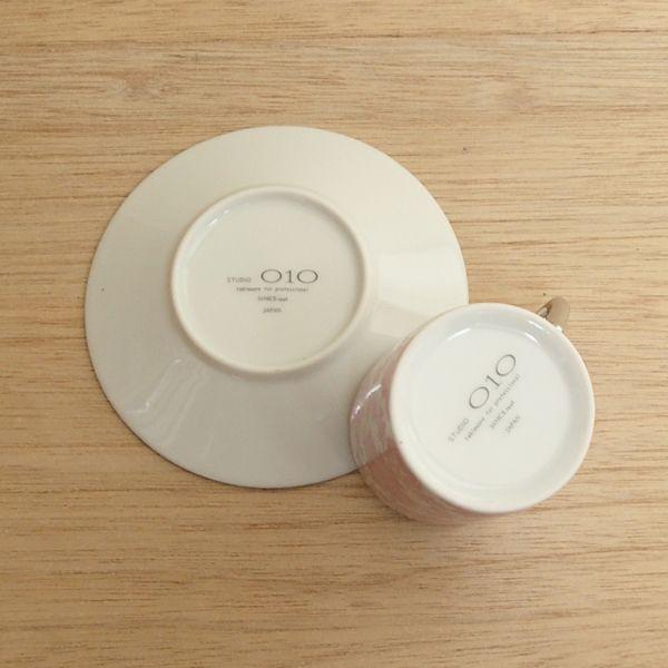 エスプレッソカップソーサー ピンクレース 洋食器 業務用食器 STUDIO 010 商品番号:sde-306